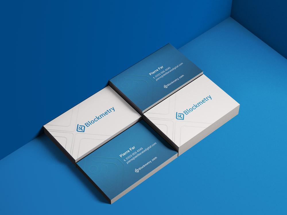 Blockmetry business card